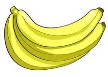 Banana peeled illustration Stock Photos