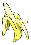 Banana peeled illustration Stock Image