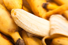 Banana peeled Stock Images