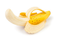 Banana peeled Stock Photos