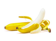 Banana with peeling Stock Images