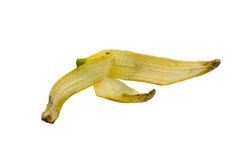Banana Peels. Benefits Of Banana Peels White background Stock Image