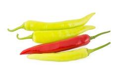 Banana Pepper. Chili pepper on white background (Banana Pepper, Paprika, Garden Pepper, Chili Plant, Red Pepper, Spanish pepper, Sweet Pepper Royalty Free Stock Photos
