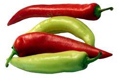 Banana Peppers Stock Image