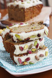 Banana & pistachio loaf Stock Photography