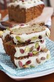 Banana & pistachio loaf Stock Photography