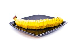 Banana on a plate Royalty Free Stock Photos