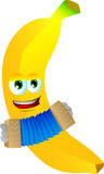 Banana playing accordion Royalty Free Stock Image