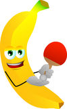 Banana playing ping pong Stock Image