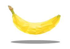 Banana in polygonal style. Vector illustration Stock Photography