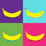 Banana pop art Stock Photos