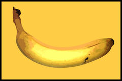 Banana poster illustration Stock Images