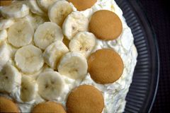 Banana pudding cake Royalty Free Stock Photography