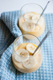 Banana pudding in a glass Royalty Free Stock Images
