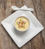 Banana pudding with sprinkle Royalty Free Stock Image