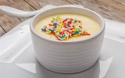 Banana pudding with sprinkle Royalty Free Stock Photo