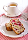 Banana and raspberry cake Stock Image