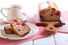 Banana and raspberry cake Royalty Free Stock Photography