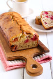 Banana and raspberry cake Royalty Free Stock Photo