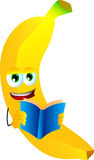 Banana reading Stock Photo
