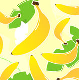 Banana retro tropical fruit texture or pattern Royalty Free Stock Images