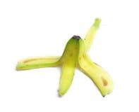 Banana rind. Close up on white background royalty free stock image