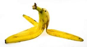 Banana rind. Close up on white background Royalty Free Stock Photo
