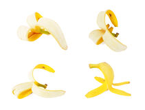 Banana rind isolated on a white background Stock Photos