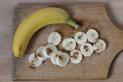 Banana. Rings bananas and whole banana Royalty Free Stock Photo