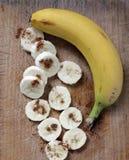 Banana. Rings bananas and whole banana Royalty Free Stock Photography