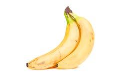 Banana's. A bunch of banana's  on a white background Stock Photos
