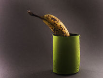 Banana in sacchetto fotografia stock