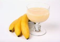 Banana saft with bananas Stock Photos