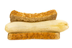 Banana Sandwich Royalty Free Stock Photos