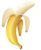 Banana sbucciata Fotografie Stock