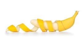 Banana sbucciata Immagine Stock