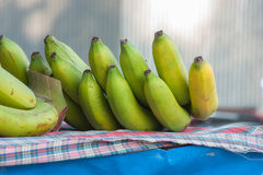 Banana on Scottish chintz Royalty Free Stock Photography