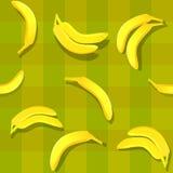 Banana seamless. Banana fruit seamless background pattern Stock Images