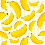 Banana Seamless Pattern on Tablecloth Royalty Free Stock Image
