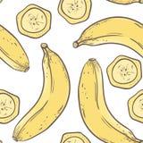 Banana seamless pattern in vector Royalty Free Stock Photo