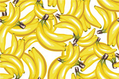 Banana seamless pattern on white Stock Photography