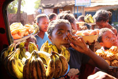 Banana seller Royalty Free Stock Photography