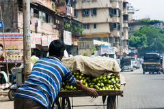 Banana Seller i n Mumbai Stock Images