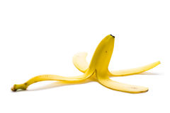Banana skin Stock Images