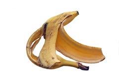 Banana skin. An old banana skin, better not lying on a pedestrian train royalty free stock photography