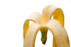 Banana skin. On white background Royalty Free Stock Photography