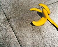 Banana Skin. On sidewalk or pavement Royalty Free Stock Photos