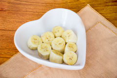 Banana slice Stock Photography
