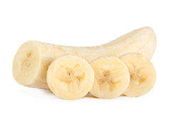 Banana slice closeup Royalty Free Stock Photo