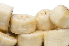 Banana sliced isolated on white background Royalty Free Stock Photography